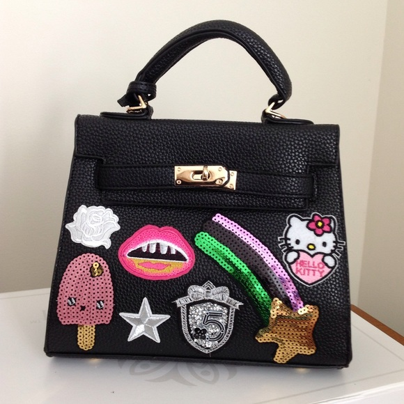 Handbags - Appliqué/Patch Sequin Top Handle/Crossbody Tote