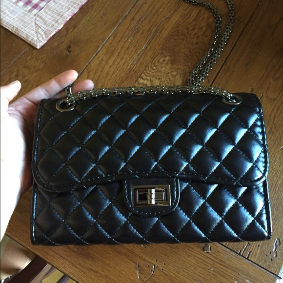 Zara - Quilted faux leather chain crossbody from Melissa's closet ... : quilted faux leather tote - Adamdwight.com
