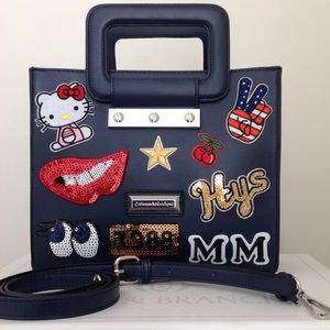 Appliqué/Patch Sequin Top Handle/Crossbody Tote