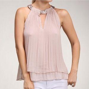  Dusty Pink Halter Top with Sequins