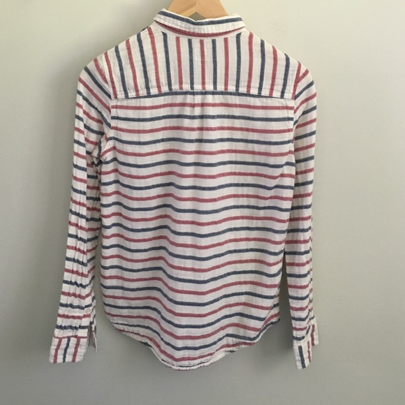 Madewell Tops - Madewell Stripe-Dot Boy Shirt