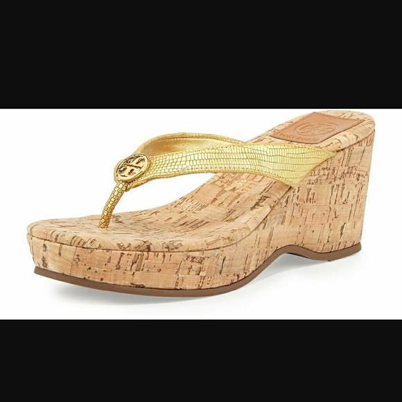 ea2727da09a Tory Burch Suzy Cork Wedge Thong sandle size 8. M 575ae33bbf6df5aa45014e8c
