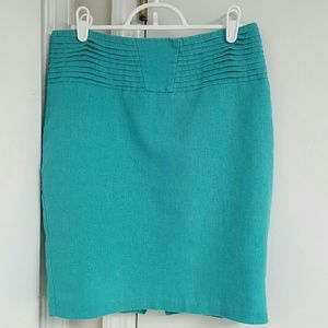 Asos turquoise pencil skirt size 6