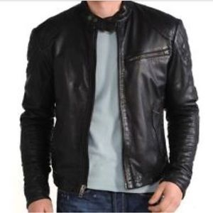 340c68e5b Men's moto leather jacket