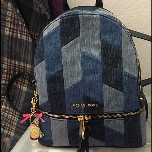michael kors bags sale nwt denim backpack poshmark rh poshmark com