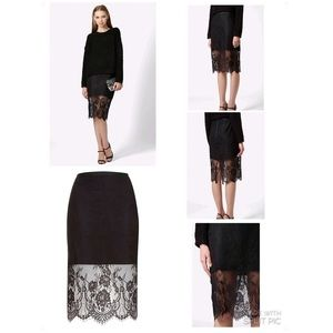 Topshop Dresses & Skirts - Topshop pencil lace overlay skirt 6