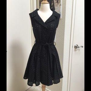 Ariella Dresses & Skirts - LBD eyelet portrait black dress