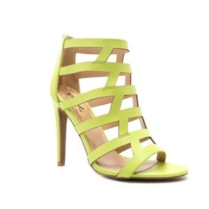 "Lemon lime heel height 4 1/8"""