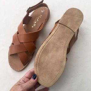a59aba6e9eb Mariella Shoes - Saddle tan Mariella leather sandals