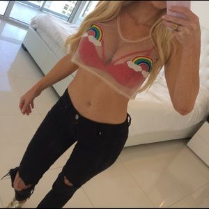 HANLEY ALTON Other - Rainbow Crop Top