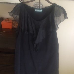 Geren Ford Tops - Geren ford black silk top medium