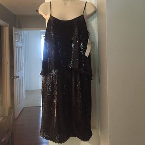 suzi chin  Dresses & Skirts - FLASH SALE!! 💥💥 new black sequined dress