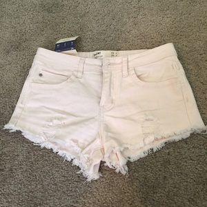 Pants - Light champagne jean shorts