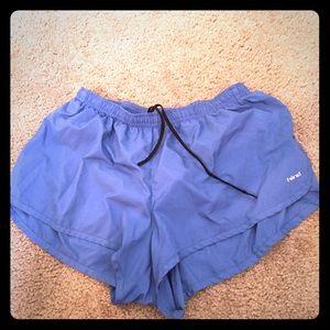 Pants - Blue athletic shorts