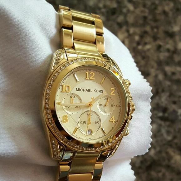 ea05a020e15b Ladies Michael Kors Blair Gold Glitz watch MK5166.  M 575b0a7e99086a77830006a9