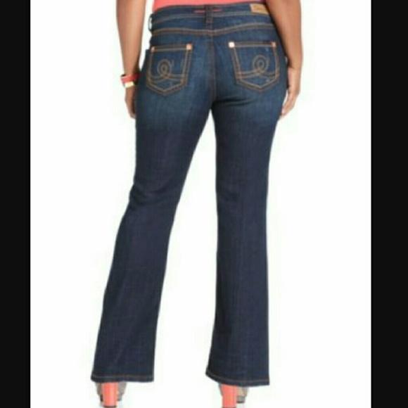 55% off Seven7 Denim - Seven7 Jeans Plus Size Destructed Bootcut ...
