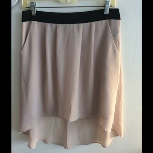 Tan/Cream Skirt with Black Waist 🌸