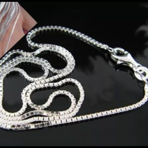Jewelry - 😍BUY 1 GET 1 FREE😍.         Silver plated chain