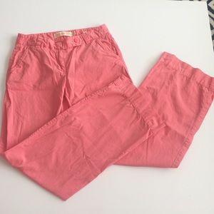 Pink J. Crew Trouser Pants