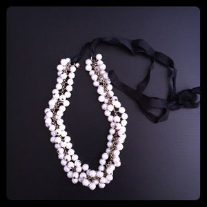 J.Crew cluster faux-pearl statement necklace