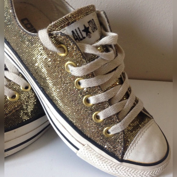 choose authentic fashion design top-rated latest Gold Glitter Converse Womens 6.5