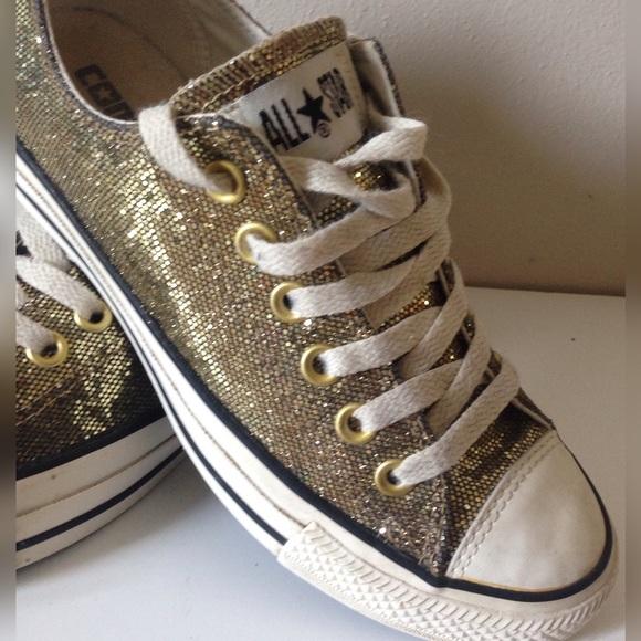 211cb3e2449f Converse Shoes | Gold Glitter Womens 65 | Poshmark