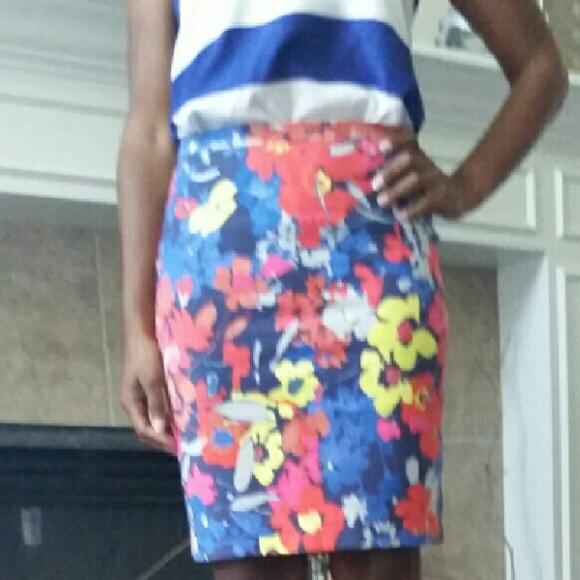 56 loft dresses skirts cure floral pencil skirt