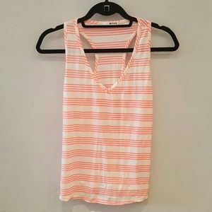 La made striped v neck racer back tank