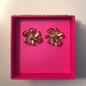 Lilly Pulitzer Bow Earrings NWT