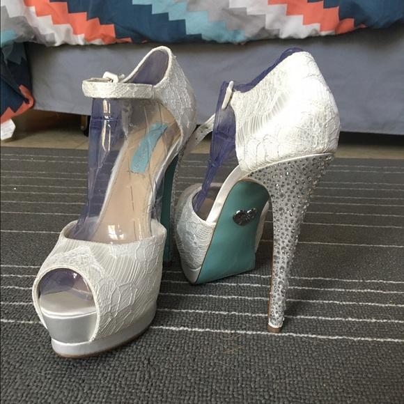 Lace Rhinestone Heels