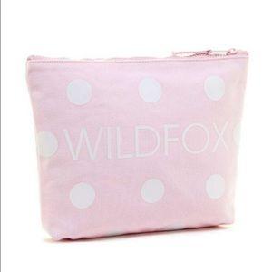 Wildfox pink polka dot bikini travel bag/pouch