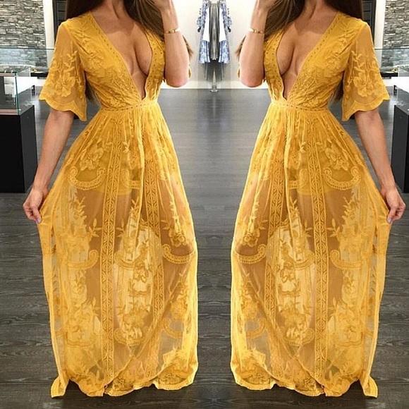 Beyonce Yellow Dress