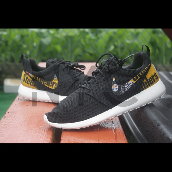 ac6680568bc8 ... Pittsburgh Steelers Nike Roshe One Custom Women ...