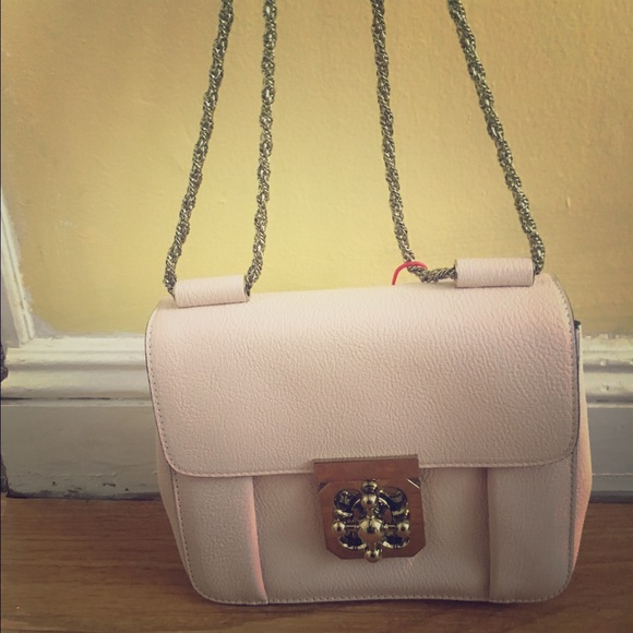 9bf10435c0f Chloe Handbags - Chloé Elsie Shoulder Bag in Cement Pink