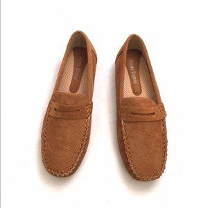 Pierre Dumas Shoes - Pierre Dumas Tan Faux Suede Loafers