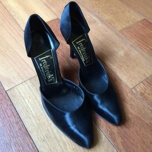 Frederick's of Hollywood Shoes - Vintage Fredericks of Hollywood Satin D'Orsay Heel