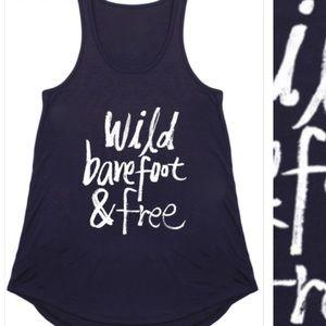 "Boutique Tops - 🚨💥{Plus} ""Wild, Barefoot & Free tank"