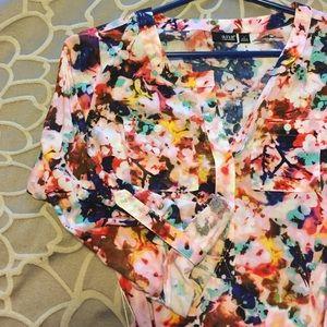 A.N.A Flower Shirt Dress