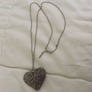 Metal heart necklace