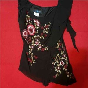 Sue Wong Tops - Closet clearance Black embroidered SUE WONG top!