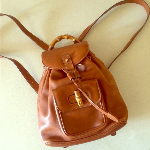 cb5783d71fd1 Gucci Handbags - Vintage Gucci Bamboo Mini Backpack