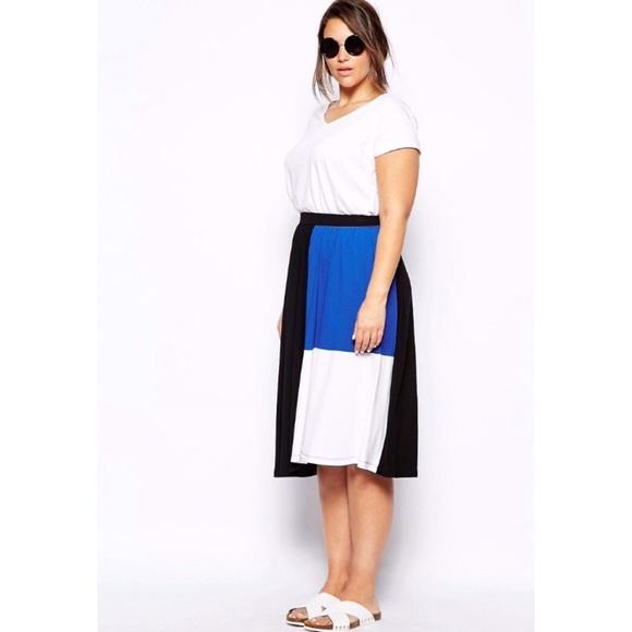 ASOS Skirts - Colorblock Midi Skirt