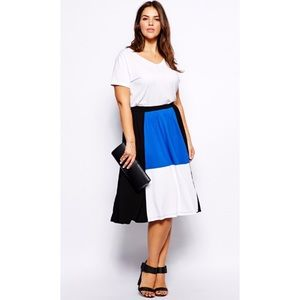 ASOS Dresses & Skirts - Colorblock Midi Skirt