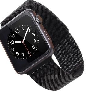 Black Band Stainless Steel for Apple Watch 1 & 2