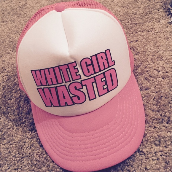 Accessories - WHITE GIRL WASTED TRUCKER HAT f5832a93469