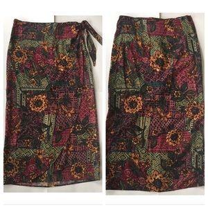 Vintage floral wrap skirt 12 (may fit 4 or 6)
