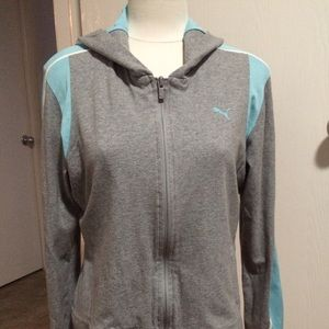 Puma Zip Up Hooded Sweatshirt