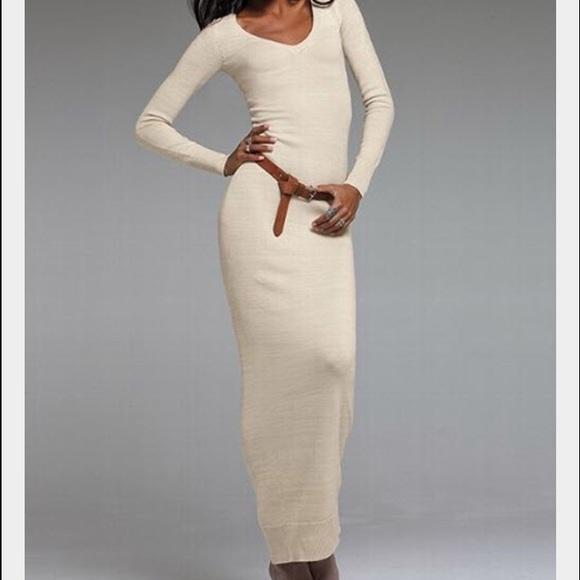 d58aedecc622 ... maxi long sweater dress. M 575b71b27f0a05823300a487