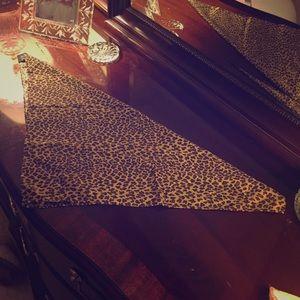 Leopard NICOLE MILLER 100% silk scarf!