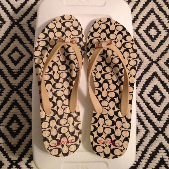 24583d032 Coach Shoes - Coach Amel sandal in Milk Black size 8